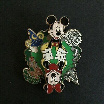 WDW - 4 Park Spinner Mickey & Minnie Re-released Variation Disney Pin 88545