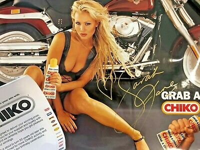 CHIKO ROLL Banned Poster with Sarah Jane Autograph MEGA RARE Chiko Roll Chick