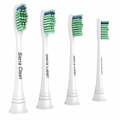 4X Philips Sonicare Replacement Toothbrush Brush Heads White by Sierra Clean NEW