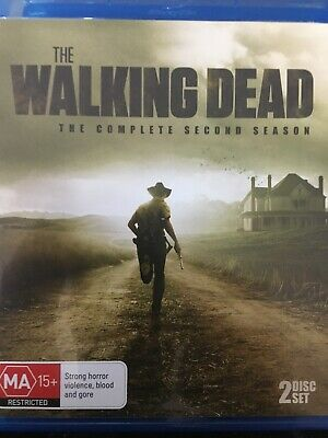 THE WALKING DEAD - Season 2 3 x BLURAY Set AS NEW! Complete Second Series Two