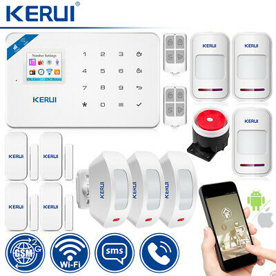 KERUI W18 WIFI GSM Home Security Security Alarm System Curtain Infrared Detector