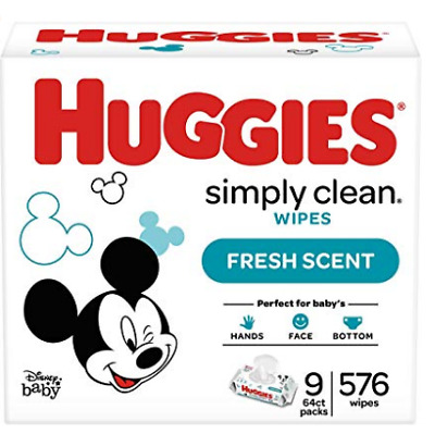 HUGGIES Simply Clean Fresh Scented Baby Wipes Soft Pack, 576 Count free shipping