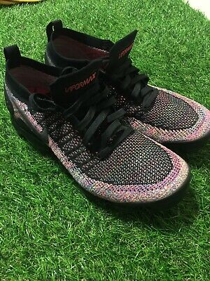 Nike Air VaporMax Flyknit 2 Mens Size 8 Black Multi Color