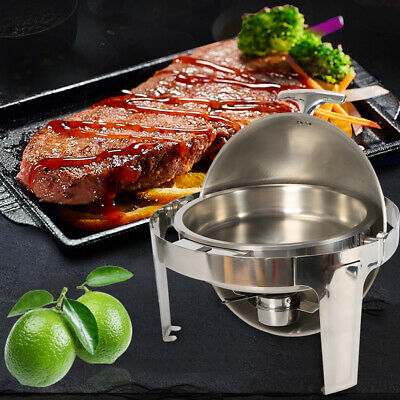 Round Roll Top Chafing Dish Food Warmer 6.8 L Stainless Steel Lowest Price In DE