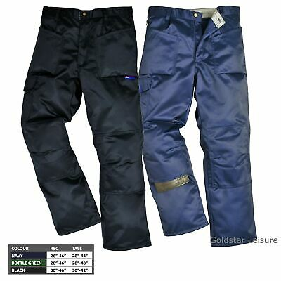 Portwest Ohio Trousers Pants Buildtex Workwear Tear Resistant Pockets