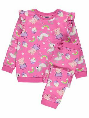 Girls Peppa Pig Pink Sweatshirt and Joggers Outfit 2-3 yrs 3-4 years BNWT