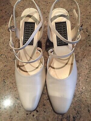 Wedding Bridesmaid Shoes White Pearl Offwhite Size 8