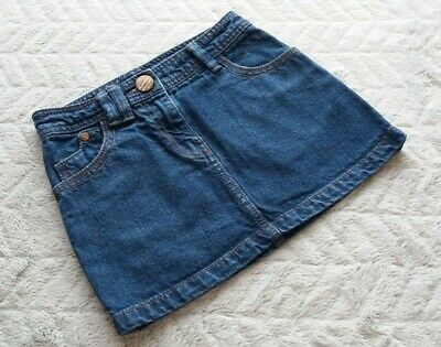 Next Girls 5-6 Years 116cm Kids Clothes Denim Jeans Mini Fancy Party Skirt