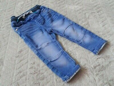 Next Baby Boys 12-18 Months Kids Clothes Denim Wiped Trousers Bottom Jeans