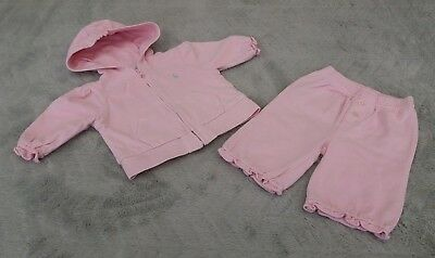 Ralph Lauren Baby Girls 0-3 Months Kids Tracksuit Top Hoodie Jogger Set Trackie