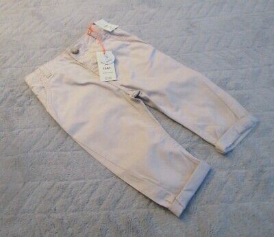 River Island Baby Boys 9-12 Months Kids Clothes Turn-Ups Pants Trousers BNWT