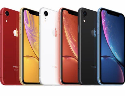 Apple iPhone XR 64GB-128GB-256GB LTE 4G iOS Smartphone Various Colours