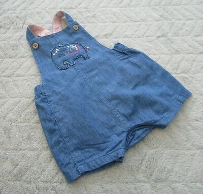 Marks & Spencer Baby Girls 0-3 Month Kids Clothes Dungaree Shorts Play-suit