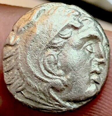"""Scarce - Alexander III """"The Great"""" Silver Drachm. 336-323 BC. Ancient Teos Mint."""