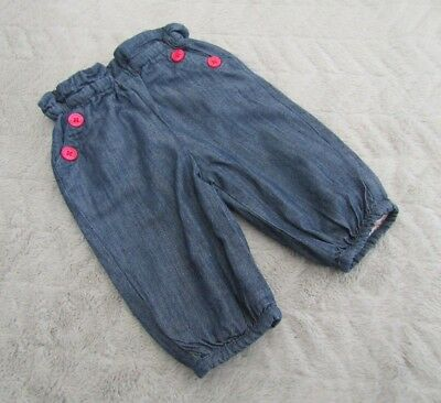 John Lewis Baby Girls 0-3 Months Kids Clothes Denim Jogger Jeans Trousers Bottom