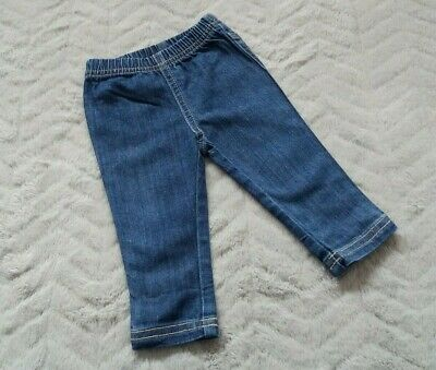 Mothercare Baby Girls 3-6 Months Kids Clothes Denim Wiped Trousers Bottoms Jeans