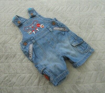 Marks & Spencer Baby Boys 3-6 Months Kids Clothes Denim Play-suit Dungarees
