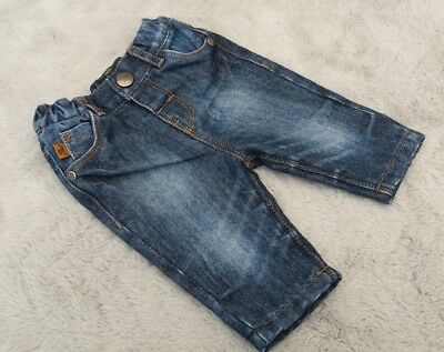 Next Baby Boys 0-1 Months Kids Clothes Cotton Denim Wiped Trousers Bottoms Jeans