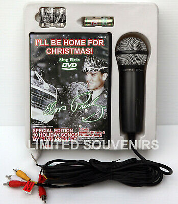 KAROKE SYSTEM+ MICROPHONE & ECHO & DISK for DVD Player Elvis Presley Plug n Sing