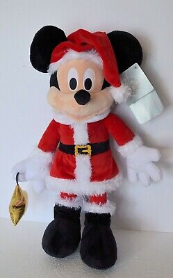 Disney Parks 2019 Christmas Holiday Santa Mickey Mouse Plush 15' New With Tags