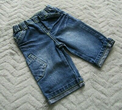 Next Baby Boys 3-6 Months Kids Clothes Denim Wiped Turn Ups Trousers Jeans