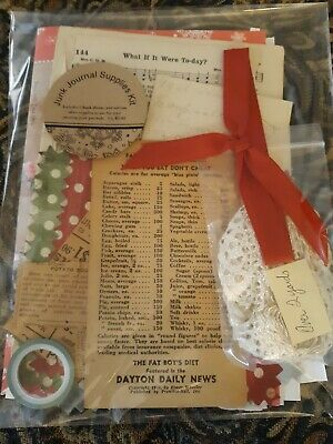 Junk Journal Kits With VINTAGE supplies!