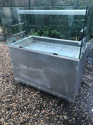 counter display chiller glass top