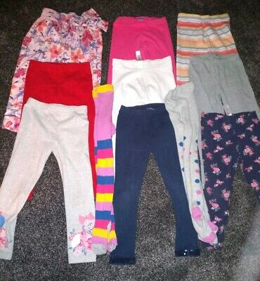 Girls Gorgeous bundle of 9 leggings Age 4-5 Years very good Condition