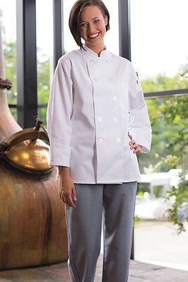 Women's Napa Chef Coat, White, XS to 3XL, 0475