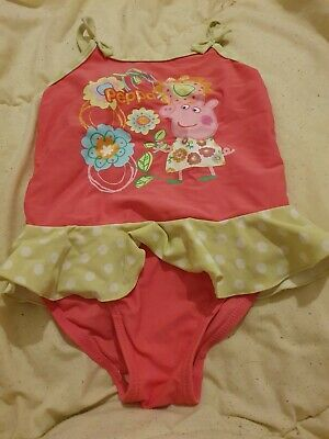 Lovely Girls George Peppa Pig Swimming Costume Age 5-6 Years