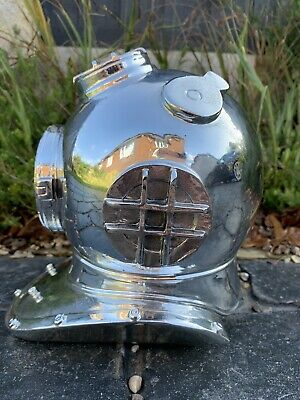 Reproduction House Clearance Nautical Boat Chrome Divers Helmet Marine Display