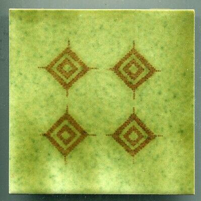 """Screen printed 6""""sq  tile by Kenneth Clark Ceramics, 1979"""