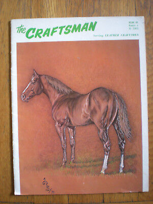 1972 The Craftsman serving Leather Crafters Horse Leather Craft Book