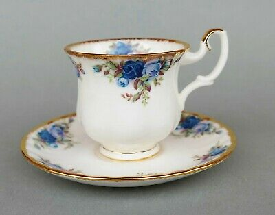 Porzellan Sammeltasse - Royal Albert - Mokka Tasse - Moonlight Rose England
