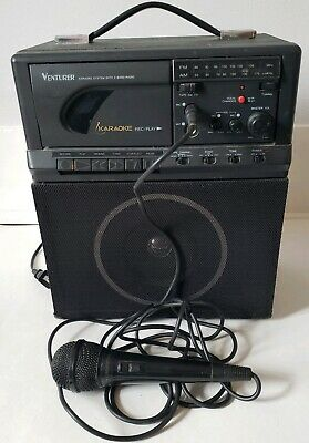 Venturer KARAOKE SingASong MACHINE Portable Cassette with Microphone Works Great