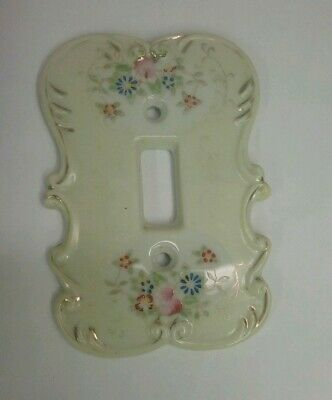 Vintage Arnart Porcelian Floral Light Switch Wall Plate # 6883Y