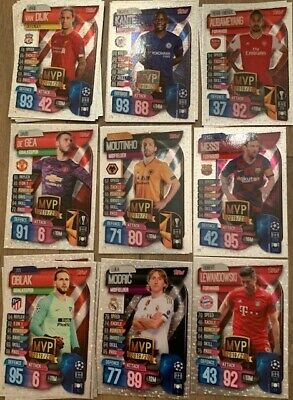 Match Attax 19/20 Individual Club MVP Cards 2019/20 UEFA Champions League