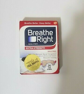 New Sealed Breathe Right Extra Strength Nasal Strips 26 Count