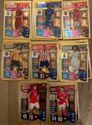 Match Attax 19/20 Individual Club Legend Cards 2019/20 UEFA Champions League