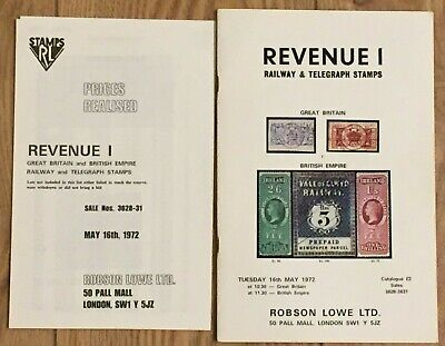 Revenue RAILWAY & TELEGRAPH STAMPS GB British Empire 1972 Robson Lowe with PR