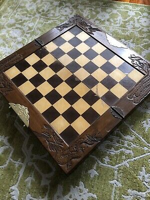 Antique Wooden Chess Board