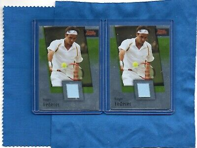 (2) 2007 Ace Authentic Roger Federer Materials Shirt Jersey #Jc1
