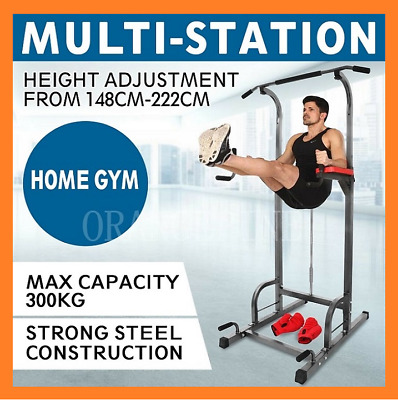 2020 NEW Knee Raise Power Tower Chin Up Push Pull Dip Gym Station Weight Bench
