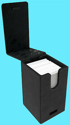 ULTRA PRO ALCOVE PREMIUM SUEDE TOWER JET BLACK Flip DECK BOX Card Storage Case