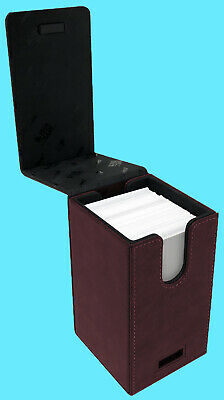 ULTRA PRO ALCOVE PREMIUM SUEDE TOWER RUBY Flip DECK BOX Card Storage Case red