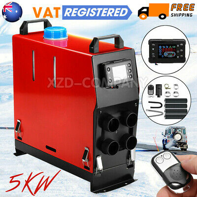 5KW 12V Air Diesel Heater 4 Holes Remote LCD Monitor PLANAR Trucks All In One UK