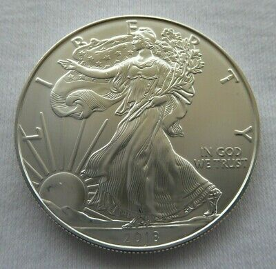 2018 1 oz AMERICAN SILVER EAGLE 999 BULLION COIN with FREE POSTAGE