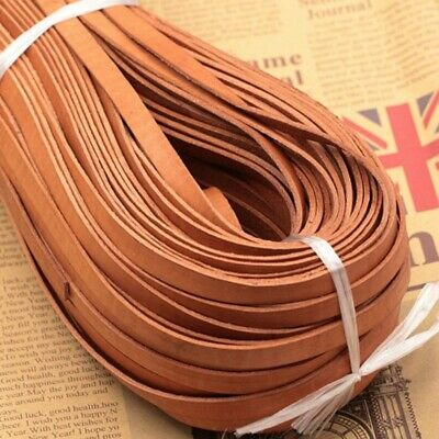 5M Real Genuine Leather Flat Cord Rope String Tape Stripe Strap DIY Craft Sewing