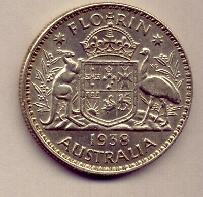 1938 Florin: A Brilliant  Silver   Coin :  Great Condition  No  Reserve