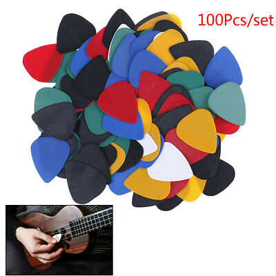 100X Acoustic Bulk Celluloid Electric`Colored Smooth Guitar Pick Pick Plect JR